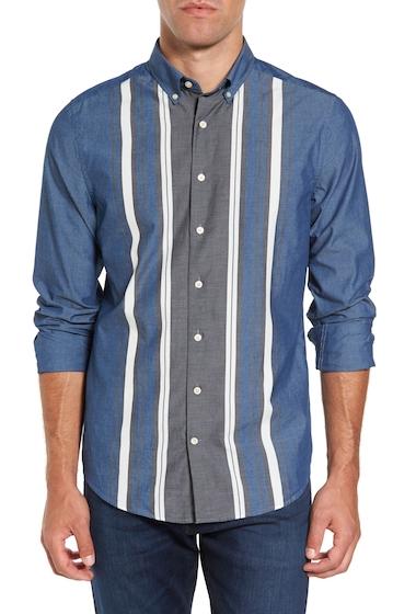 Imbracaminte Barbati Gant Tech Slim Fit Varsity Stripe Sport Shirt EVENING BL