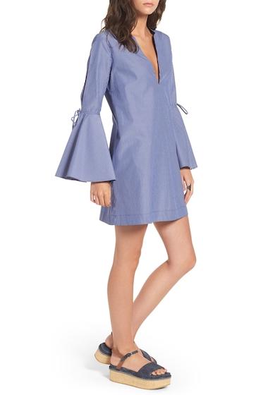 Imbracaminte Femei Socialite Bell Sleeve Shift Dress BLUEWHITE