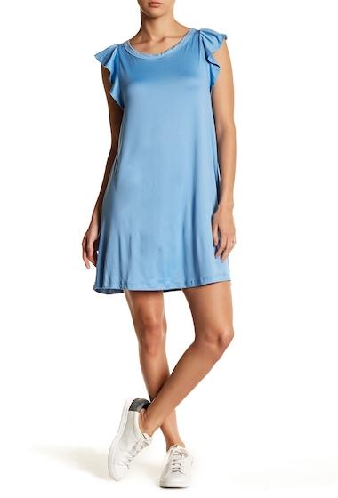 Imbracaminte Femei GOOD LUCK GEM Flutter Sleeve Dress BLUE