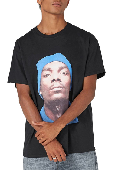 Imbracaminte Barbati TOPMAN Snoop Dogg T-Shirt BLACK MULTI