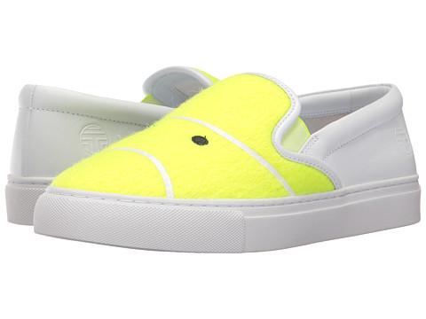 Incaltaminte Femei Tory Burch Tennis Felt Sneaker Fluo Yellow