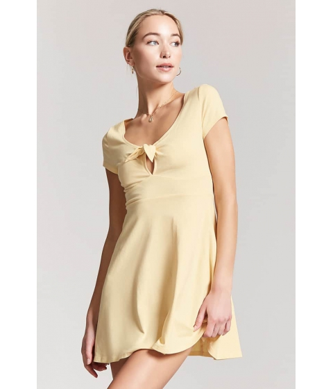 Imbracaminte Femei Forever21 Tie-Front Cutout Mini Dress YELLOW