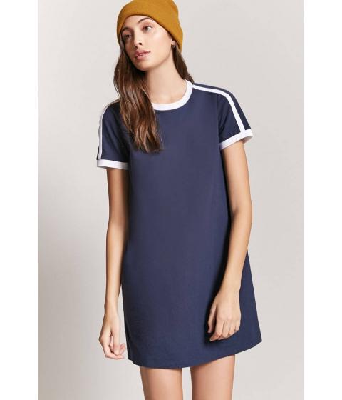 Imbracaminte Femei Forever21 Contrast Ringer Mini Dress NAVYWHITE