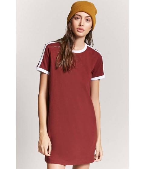Imbracaminte Femei Forever21 Contrast Ringer Mini Dress BRICKWHITE