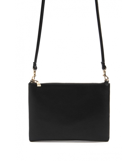 Genti Femei Forever21 Textured Faux Leather Crossbody Bag BLACK