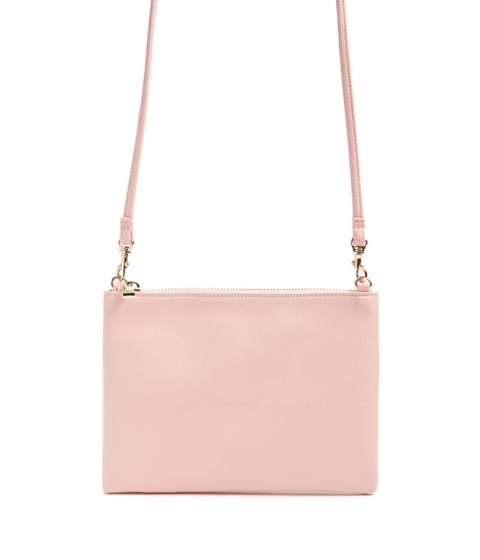 Genti Femei Forever21 Textured Faux Leather Crossbody Bag LIGHT PINK