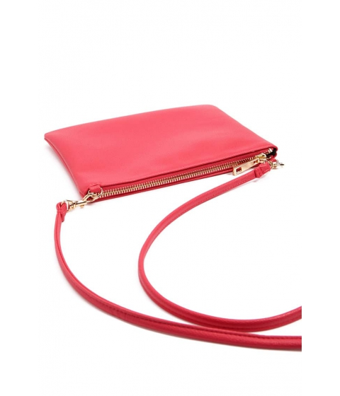 Genti Femei Forever21 Textured Faux Leather Crossbody Bag FUCHSIA