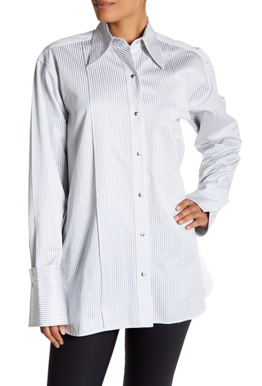 Imbracaminte Femei Helmut Lang Stripe Long Sleeve Shirt GREY MULTI