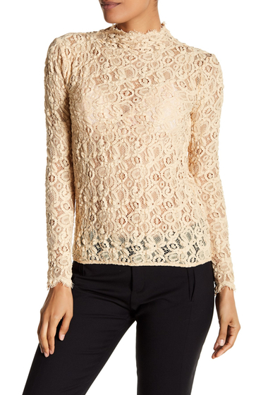 Imbracaminte Femei Helmut Lang Long Sleeve Lace Top CORK