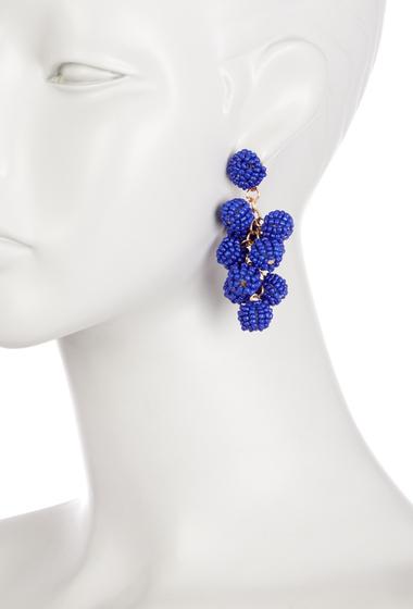 Bijuterii Femei Natasha Accessories Mini Beaded Balls Earrings BLUE