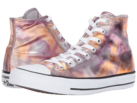 Incaltaminte Femei Converse Chuck Taylor All Star Washed Metallic Canvas - Hi Dust PinkBlackWhite