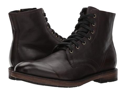 Incaltaminte Barbati Frye Bowery Lace-Up Dark Brown Buffalo Leather