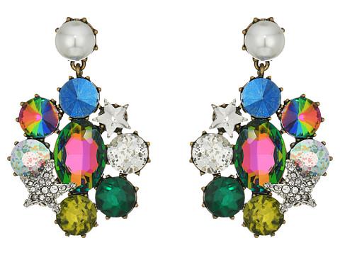 Bijuterii Femei Marc Jacobs Multi-Stone and Pearl Clip Drop Earrings Multicolor