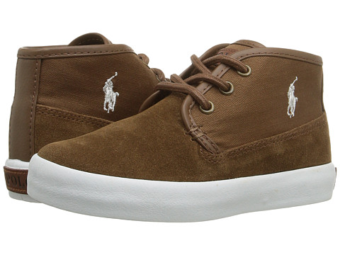Incaltaminte Baieti Polo Ralph Lauren Waylon Mid (Toddler) Snuff SuedeHerringbone TwillCream Pony Player