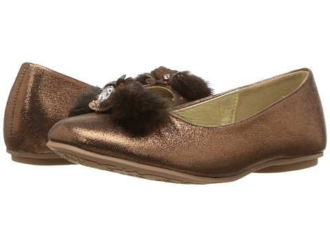 Incaltaminte Fete kensie Fuzzy Toe Flat (Little KidBig Kid) Bronze