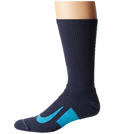 Imbracaminte Barbati Nike Elite Running Cushion Crew Socks Thunder BlueLight Blue Fury