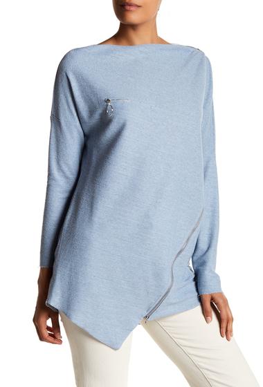 Imbracaminte Femei TOV Zip Accent Grain Sweater L-BLUE