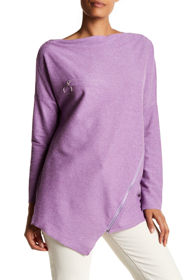 Imbracaminte Femei TOV Zip Accent Grain Sweater PURPLE