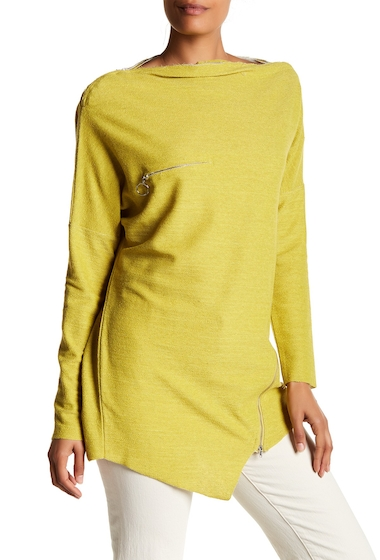 Imbracaminte Femei TOV Zip Accent Grain Sweater YELLOW