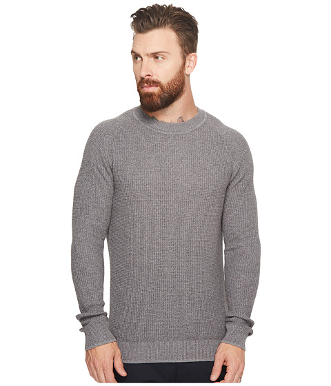 Imbracaminte Barbati Ben Sherman Mouline Rib Crew Sweater Silver Grey