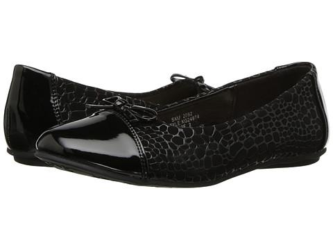 Incaltaminte Fete kensie Textured Flat with Patent Toe (Little KidBig Kid) Black