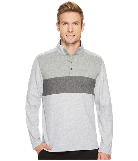 Imbracaminte Barbati Calvin Klein Color Blocked Chest Stripe 14 Snap Knit Light Heather Combo