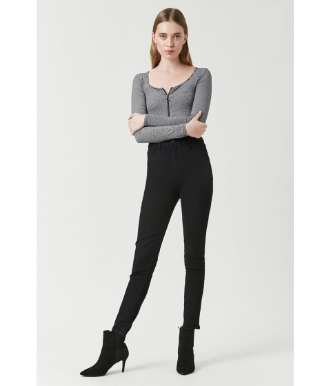 Imbracaminte Femei Forever21 High-Waist Skinny Jeans BLACK