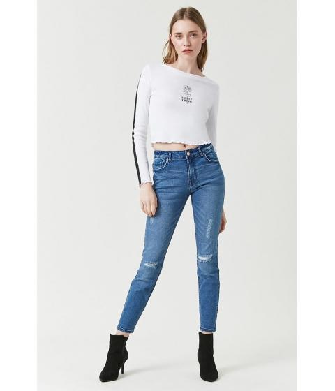 Imbracaminte Femei Forever21 Mid-Rise Skinny Jeans MEDIUM DENIM