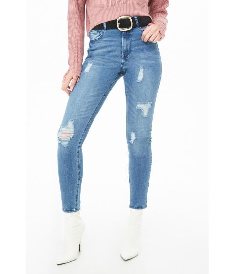 Imbracaminte Femei Forever21 High-Rise Skinny Jeans MEDIUM DENIM