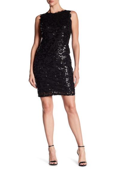 Imbracaminte Femei Marina Sequin Lace Sleeveless Dress BLK