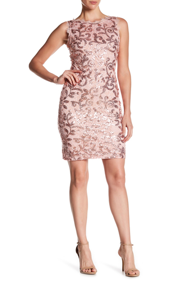 Imbracaminte Femei Marina Sequin Lace Sleeveless Dress BLUSH