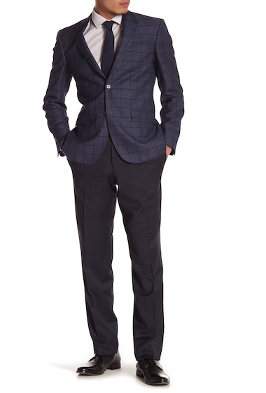 Imbracaminte Barbati Ted Baker London Trim Fit Flat Front Pants BLACK