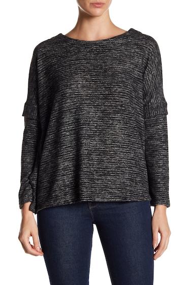 Imbracaminte Femei Bobeau Striped Dolman Sleeve Pullover BLACK