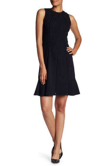 Imbracaminte Femei Rebecca Taylor Sleeveless Knit Trim Dress BLACK