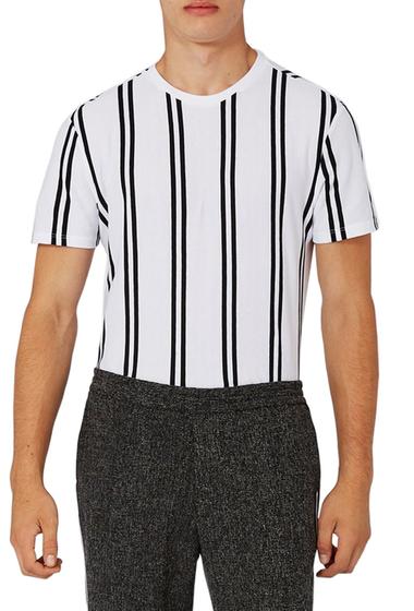 Imbracaminte Barbati TOPMAN Dilan Stripe T-Shirt WHITE MULTI