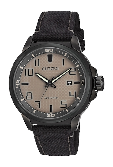 Ceasuri Barbati Citizen Watches Mens Eco-Drive AR Black Nylon Strap Watch 43mm NO COLOR