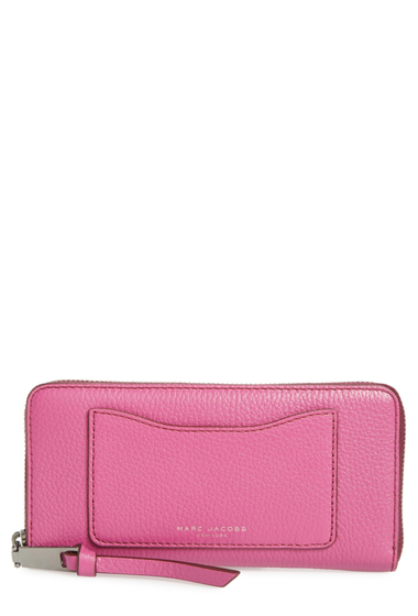 Genti Femei Marc Jacobs Recruit Vertical Leather Wallet LILAC