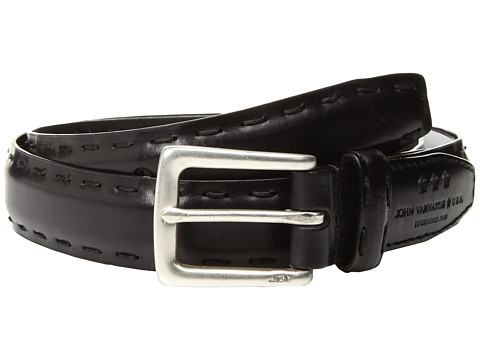 Accesorii Barbati John Varvatos Feather Edge w Pick-Stitch Belt Black