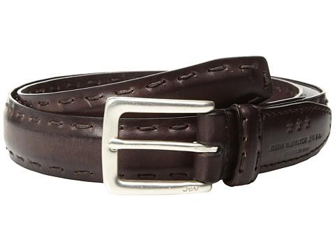 Accesorii Barbati John Varvatos Feather Edge w Pick-Stitch Belt Chocolate