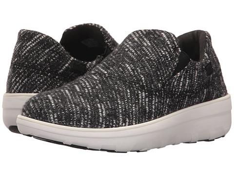 Incaltaminte Femei FitFlop Loaff Sporty Slip-On Sneaker BlackUrban White
