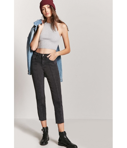 Imbracaminte Femei Forever21 Straight Ankle Jeans BLACK