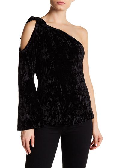 Imbracaminte Femei Lucca Couture Sadie One-Shoulder Velvet Top BLACK