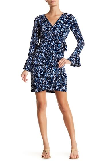 Imbracaminte Femei London Times Abstract Print Wrap Dress BLUE