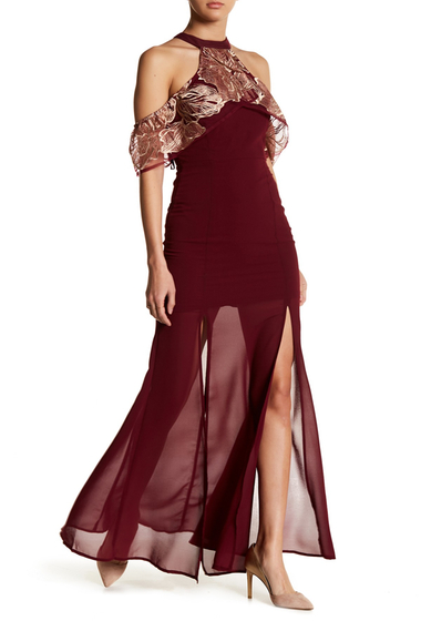 Imbracaminte Femei Soieblu Choker Mesh Maxi Dress WINEGOLD