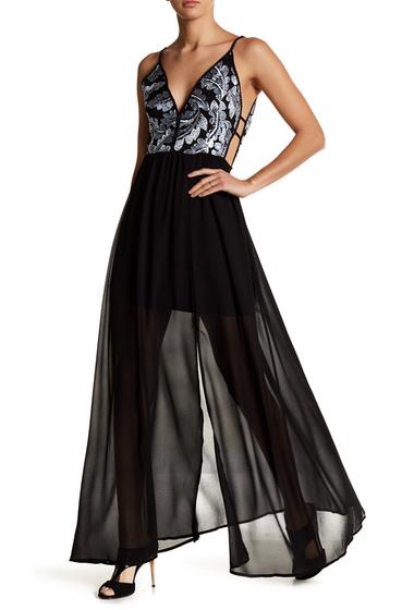 Imbracaminte Femei Soieblu Sequin Maxi Dress BLACK