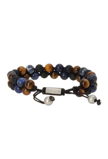 Bijuterii Barbati Steve Madden Marbled Bead Slider Bracelet BLUE-BLACK-BROWN