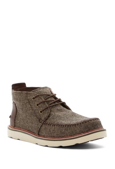 Incaltaminte Barbati TOMS Brushed Wool Chukka Boot BROWN