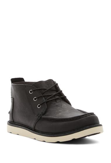 Incaltaminte Barbati TOMS Leather Chukka Boot BLACK