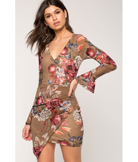 Imbracaminte Femei CheapChic Marisol Floral Wrap Dress Brown Print