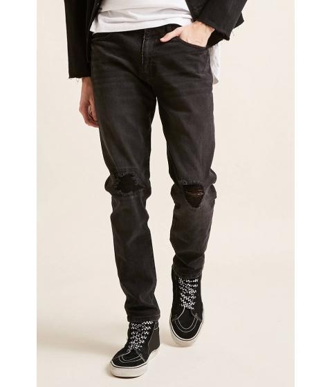 Imbracaminte Barbati Forever21 Distressed Skinny Jeans BLACK